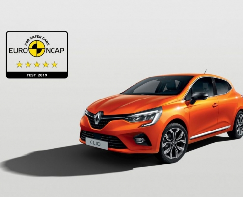 Nieuwe Renault Clio scoort vijf sterren bij Euro NCAP crashtest